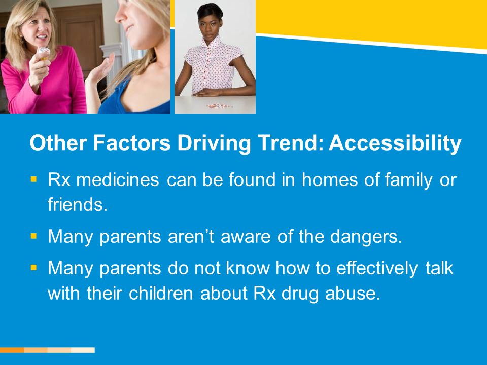 Other Factors Driving Trend: Accessibility Rx medicines can be found in homes of family or friends.