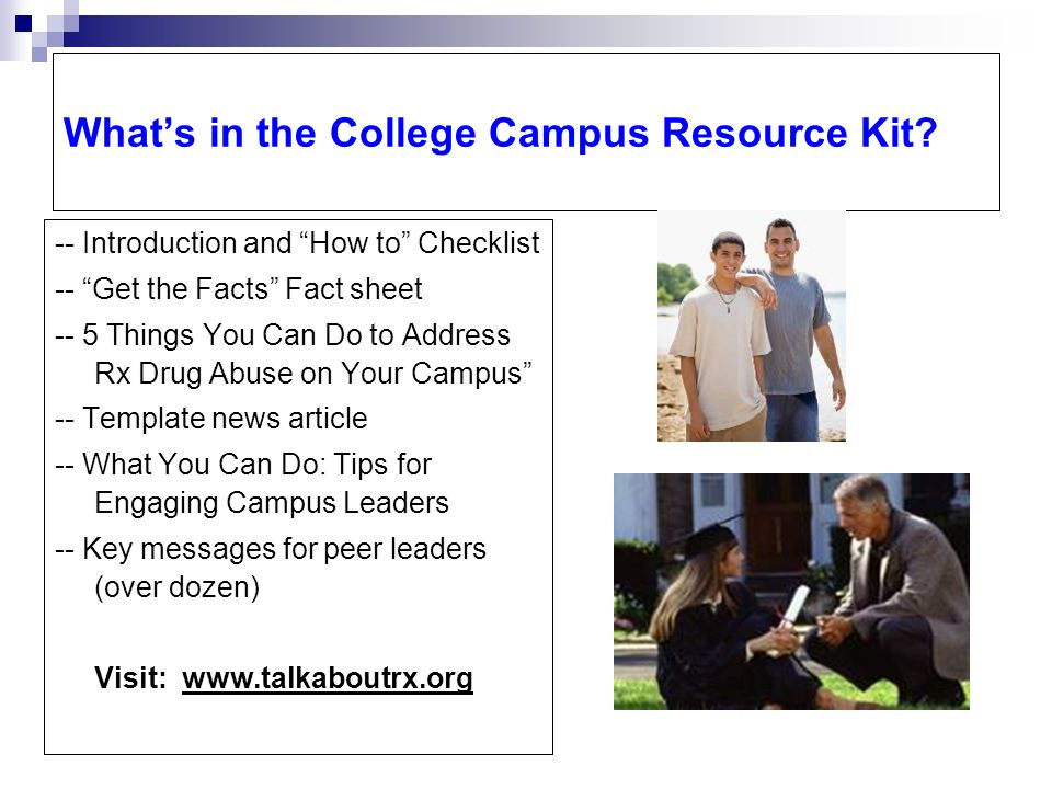 Whats in the College Campus Resource Kit.