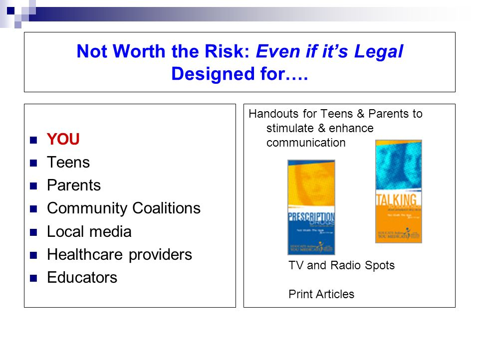 Not Worth the Risk: Even if its Legal Designed for….