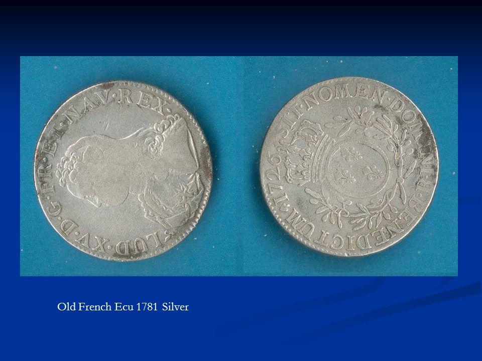 Old French Ecu 1781 Silver