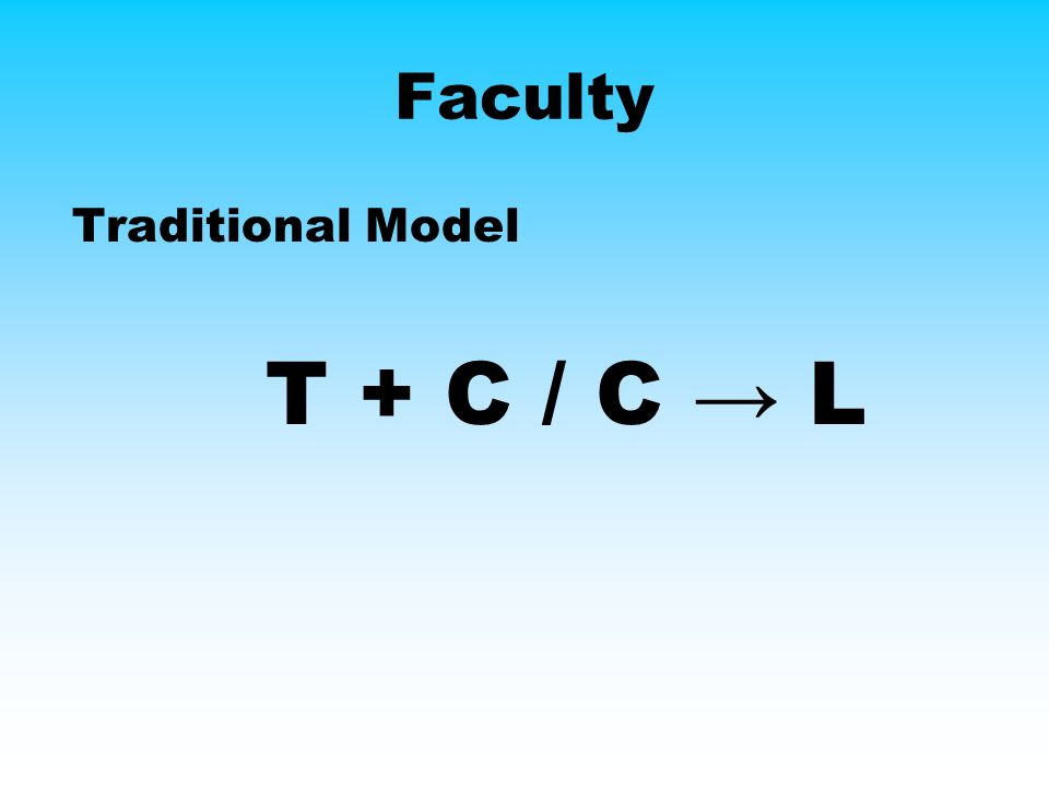 Faculty Traditional Model T + C / C L