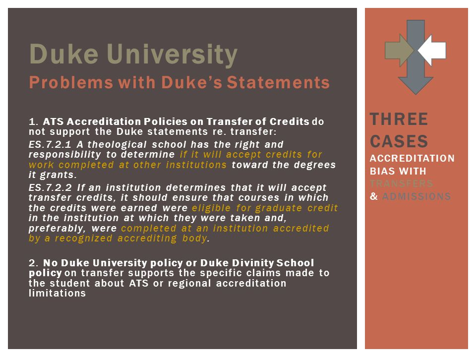 Duke University Problems with Dukes Statements 1.