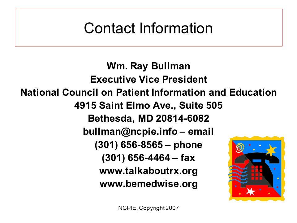 Contact Information Wm.