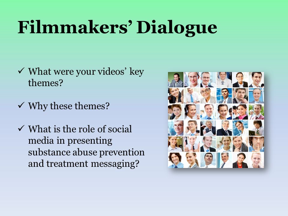Filmmakers Dialogue What were your videos key themes.