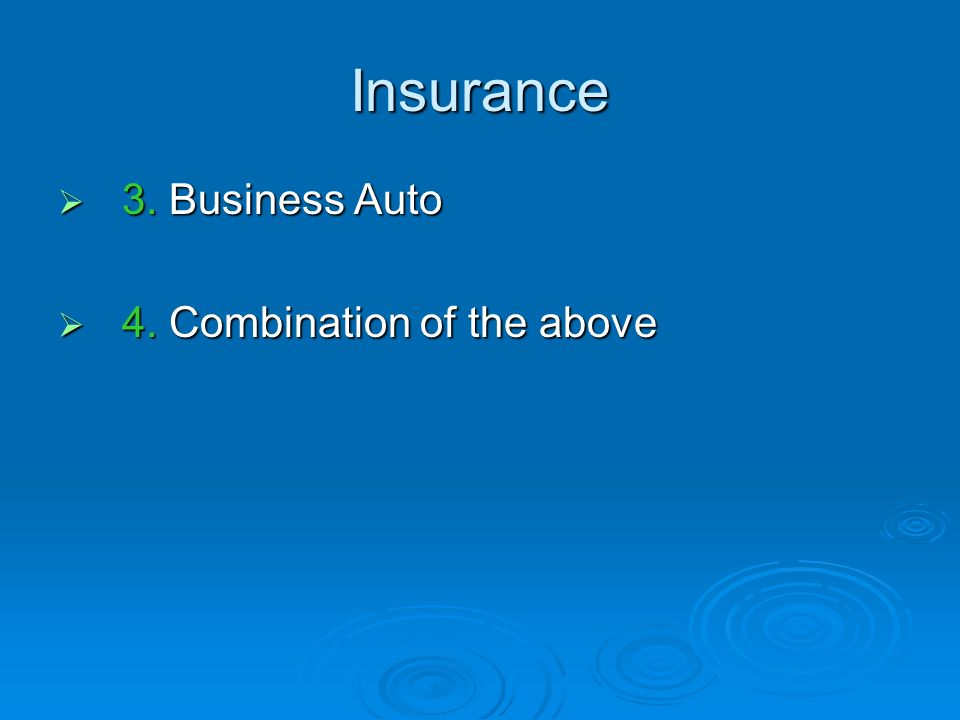 Insurance Self-insure, either completely or partially Self-insure, either completely or partially This option involves a disciplined program of setting funds aside in a special account in order to pay for losses should they occur.