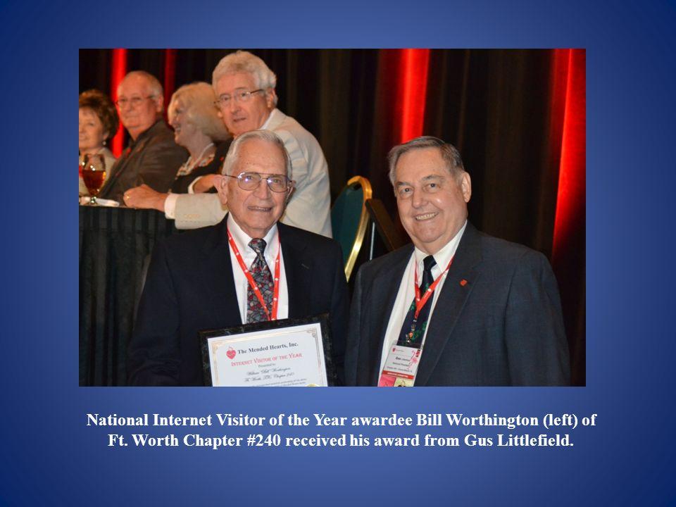 National Internet Visitor of the Year awardee Bill Worthington (left) of Ft.