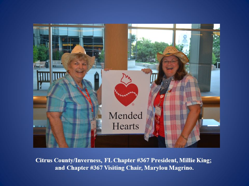 Citrus County/Inverness, FL Chapter #367 President, Millie King; and Chapter #367 Visiting Chair, Marylou Magrino.