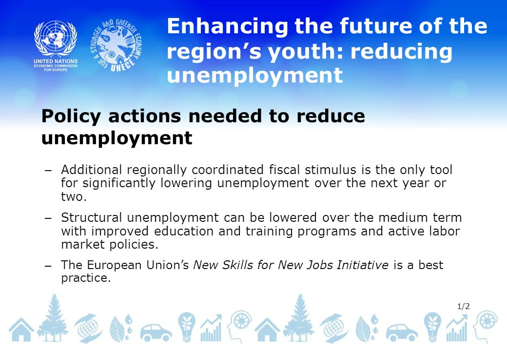 Enhancing the future of the regions youth: reducing unemployment – Additional regionally coordinated fiscal stimulus is the only tool for significantly lowering unemployment over the next year or two.
