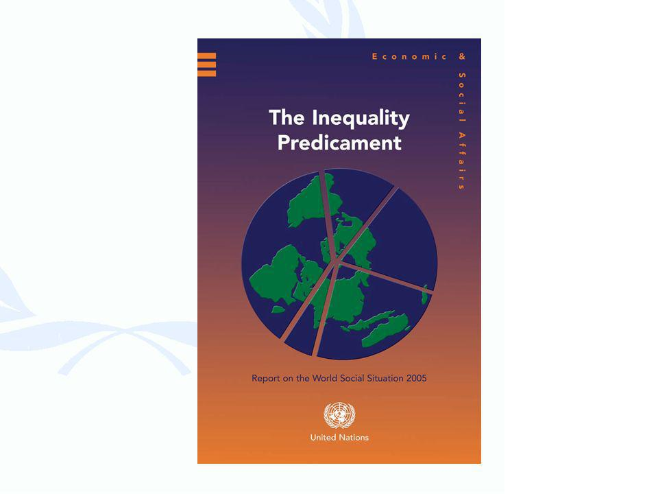 Inequality Inconsistent with UN Charter vision Worsened by aspects of globalization Confounds poverty reduction efforts Not only in developing countries Multidimensional and compromises development, security and human rights Frustrates achievement of MDGs