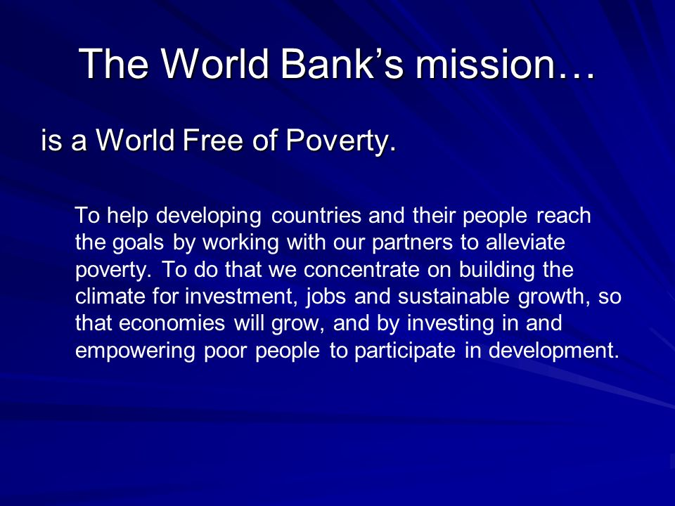 is a World Free of Poverty.