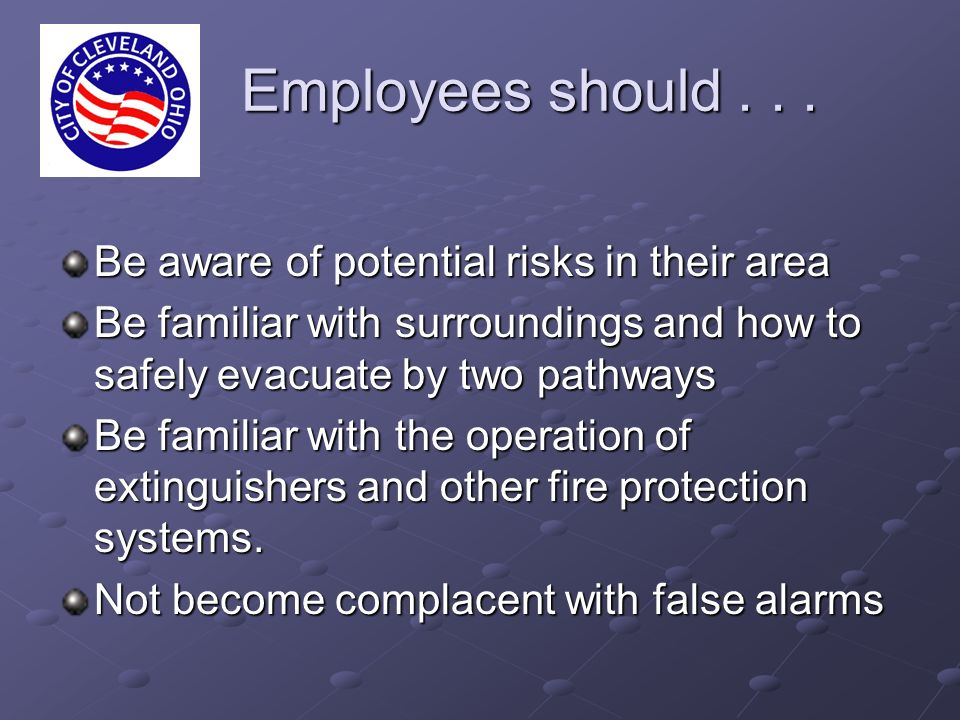 Employees should...Employees should...