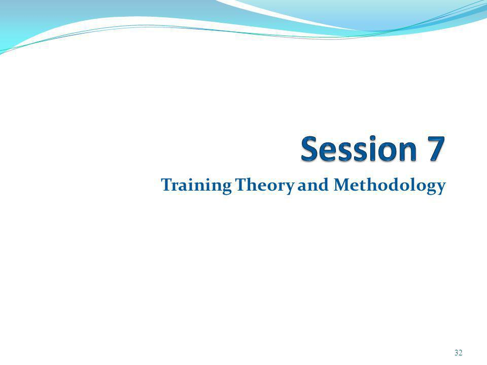 Training Theory and Methodology 32