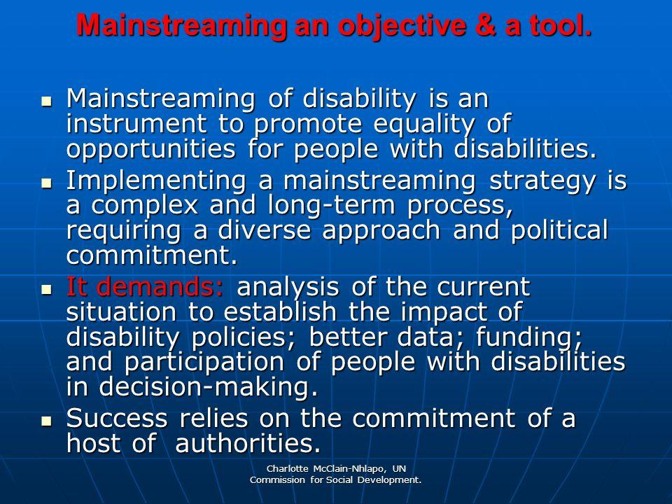 Charlotte McClain-Nhlapo, UN Commission for Social Development.