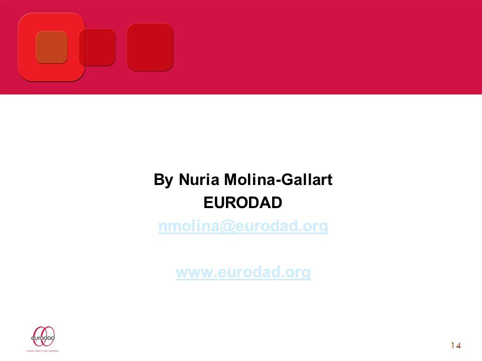 14 By Nuria Molina-Gallart EURODAD nmolina@eurodad.org www.eurodad.org