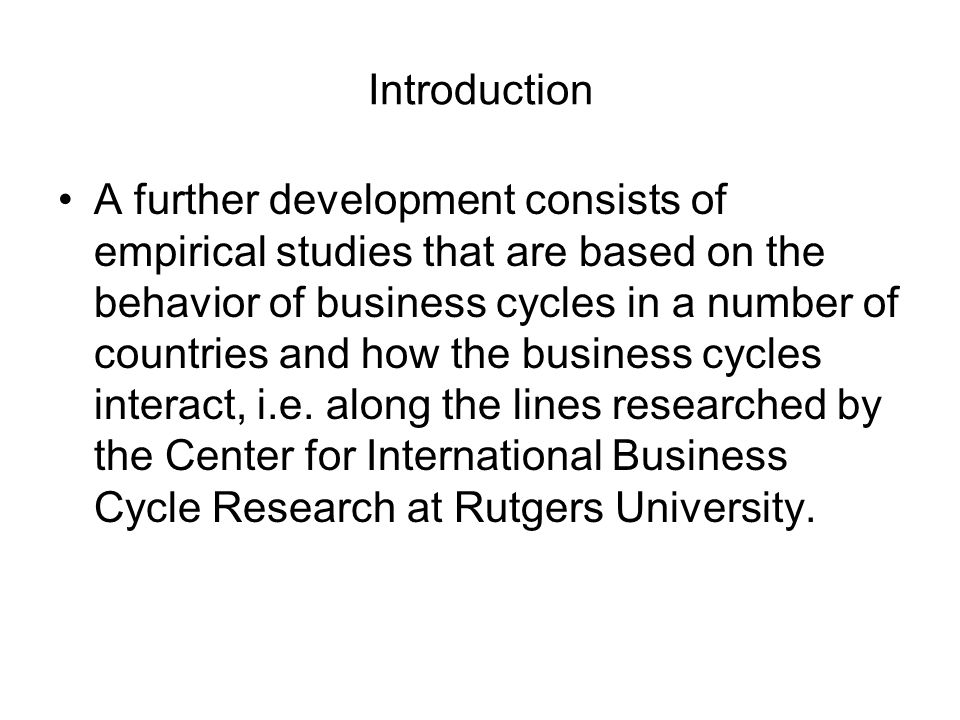 Conclusions The study outlined South Africas main business cycle forecasting approach, viz.