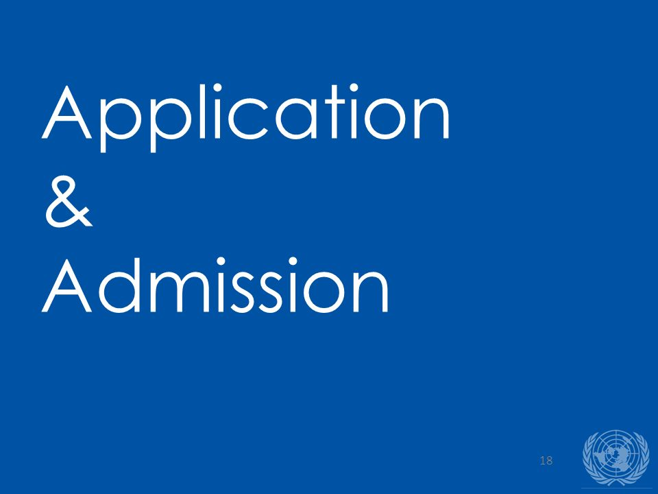18 Application & Admission