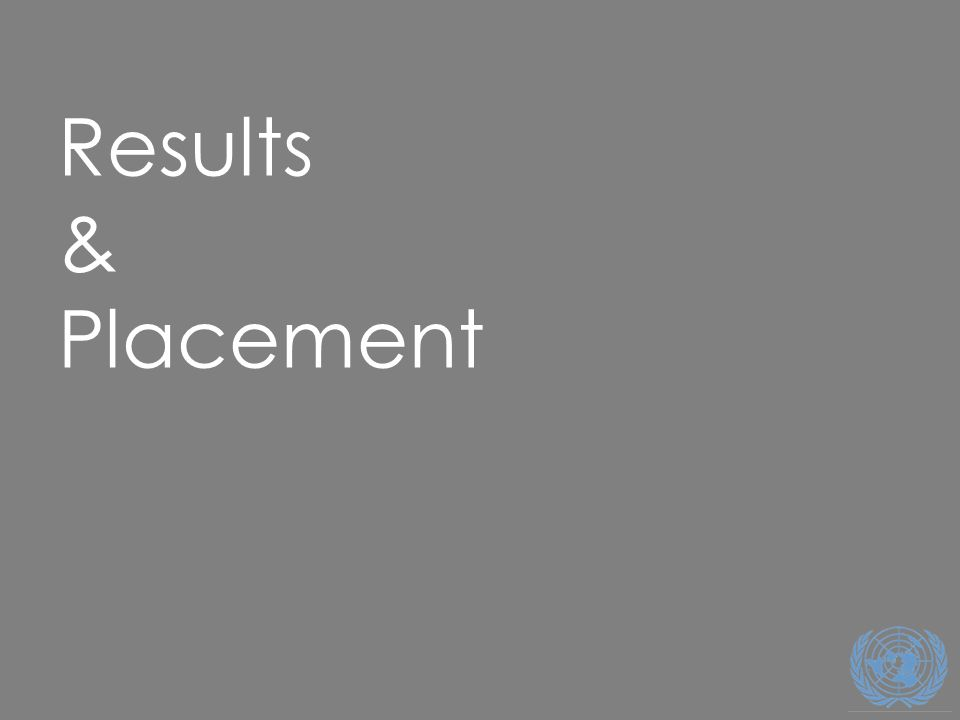 30 Results & Placement