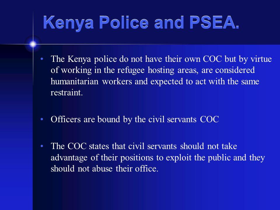 Kenya Police and PSEA.