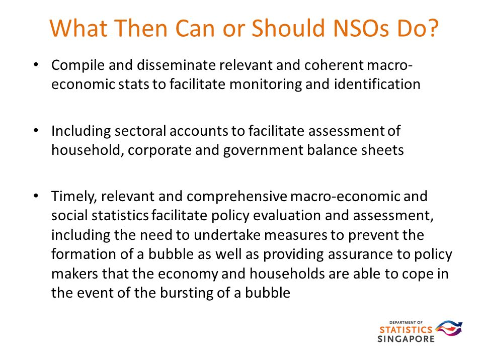 What Then Can or Should NSOs Do.