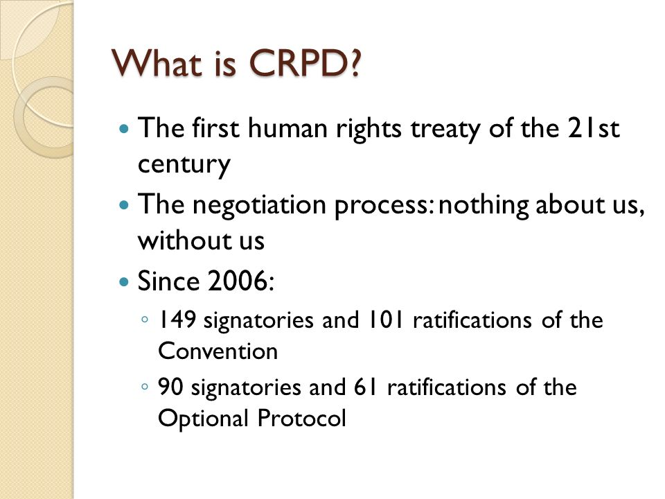 What is CRPD.