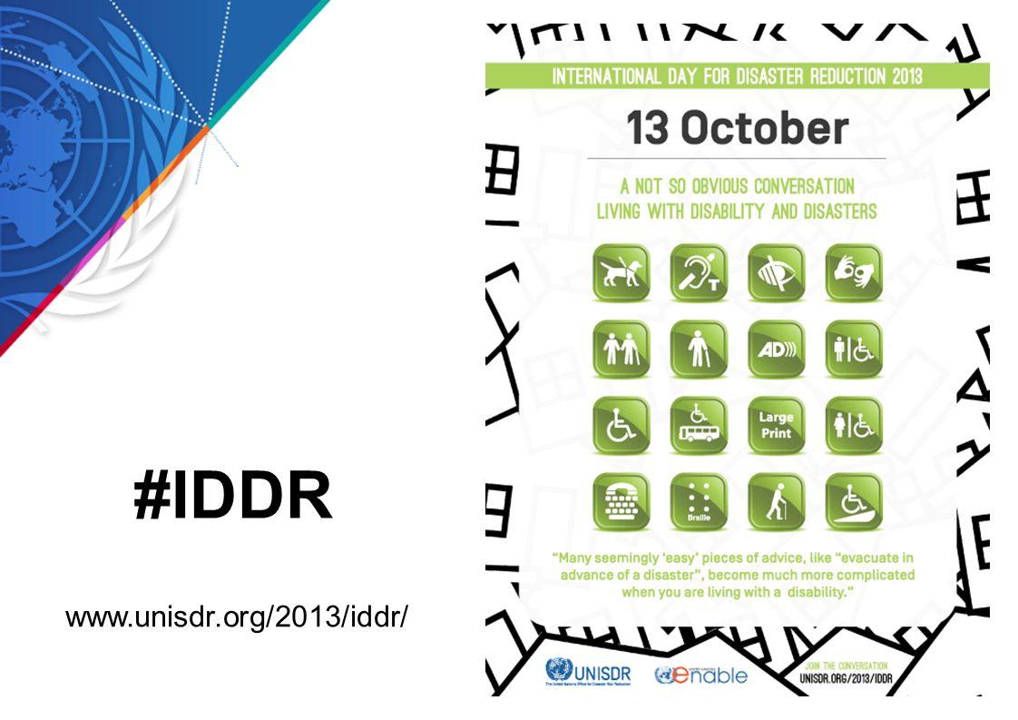 www.unisdr.org/2013/iddr/ #IDDR