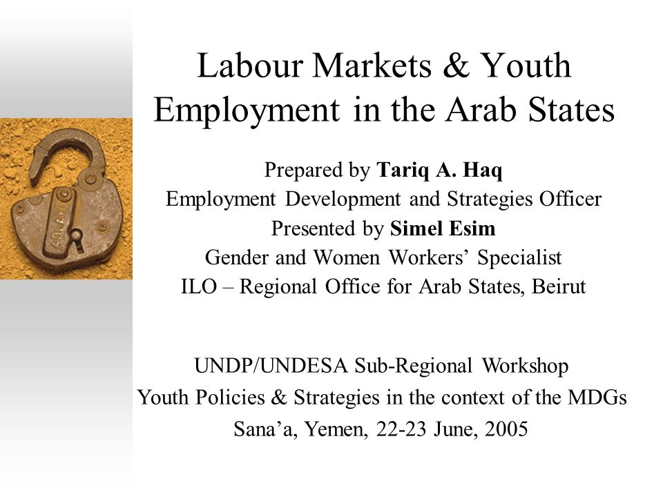 Labour Markets & Youth Employment in the Arab States Prepared by Tariq A.