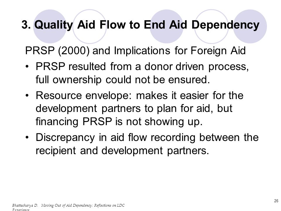 Bhattacharya D. Moving Out of Aid Dependency: Reflections on LDC Experience 26 3.