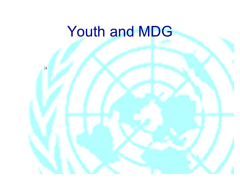 Youth and MDG ja