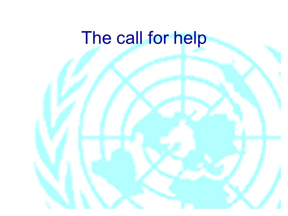 The call for help
