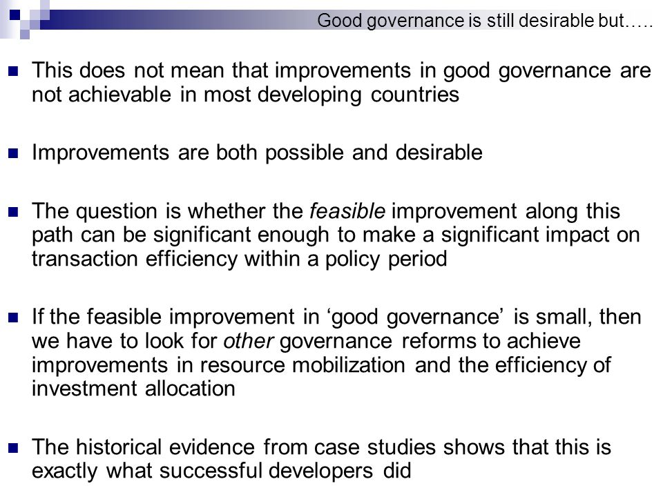 Governance and Growth