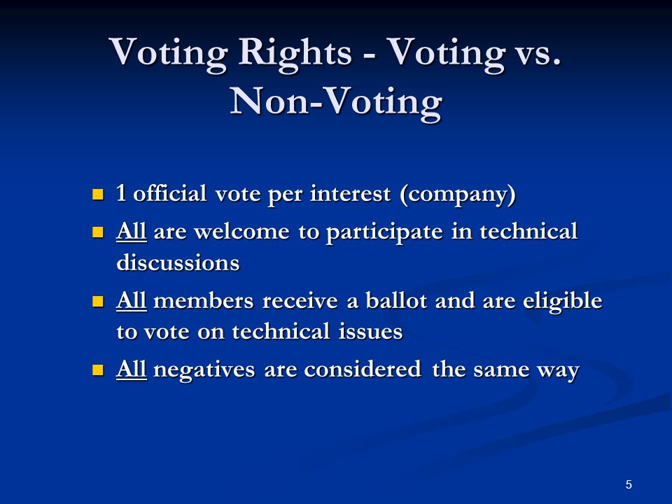 5 Voting Rights - Voting vs.