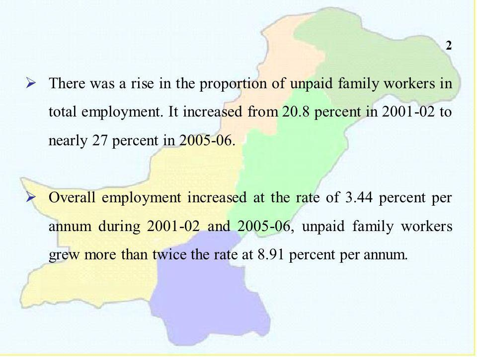 2 There was a rise in the proportion of unpaid family workers in total employment.