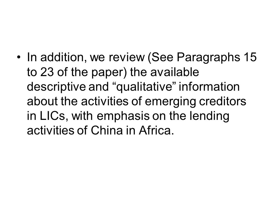 1.2 A review of the likely reasons that could have made the countries resort to non- concessional borrowing.