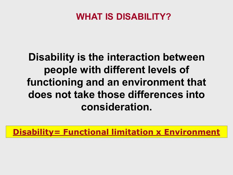 Access to Services The incidence of disabilities of all kinds - accordingly to levels of severity - is higher among the low and moderate disabilities, being the severe conditions, the less frequent.