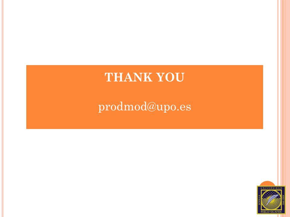 THANK YOU prodmod@upo.es
