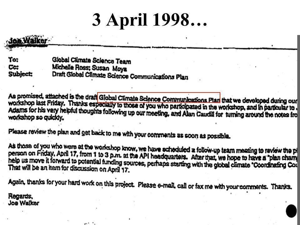 3 April 1998…