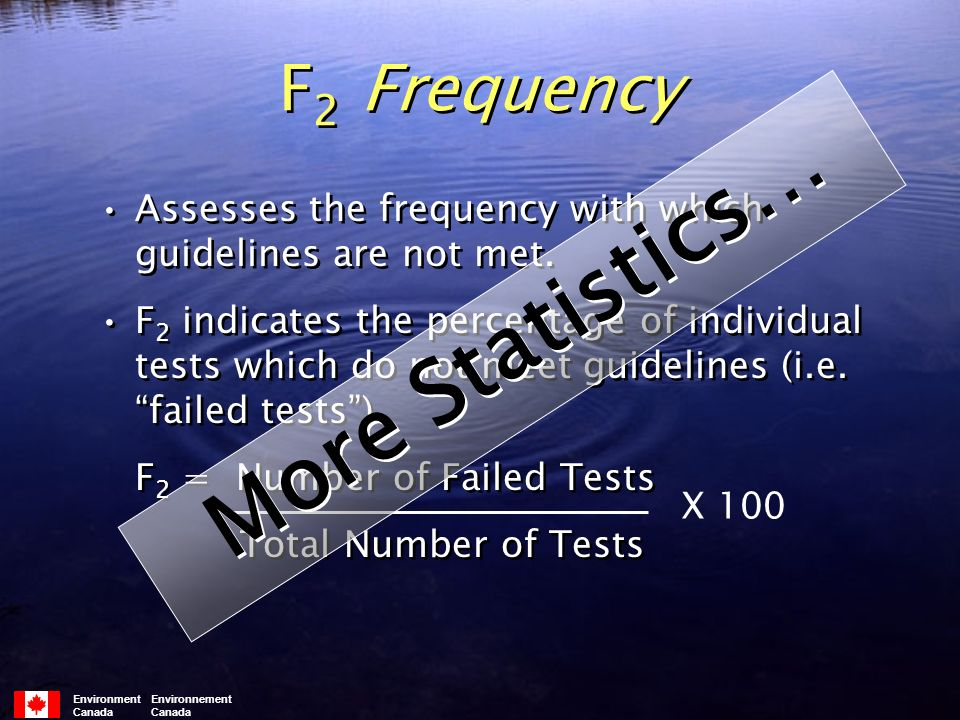 F 2 Frequency Assesses the frequency with which guidelines are not met.