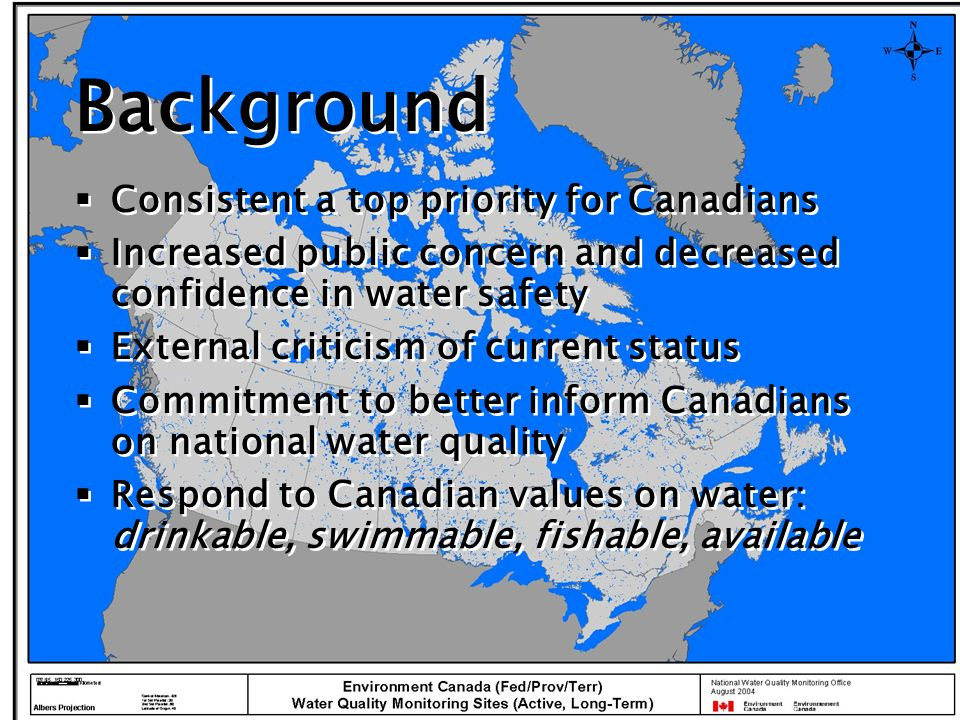 F 1 Scope Scope assesses the extent of compliance with water quality guidelines over the time period of interest.