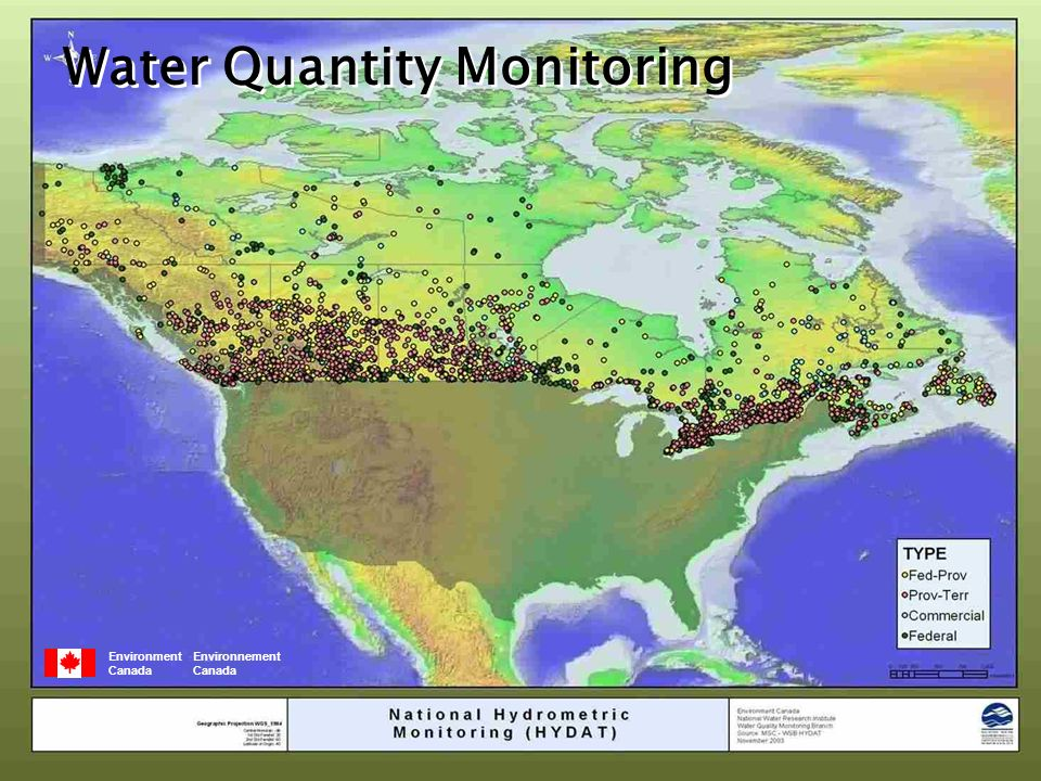 Environment Environnement Canada Water Quantity Monitoring
