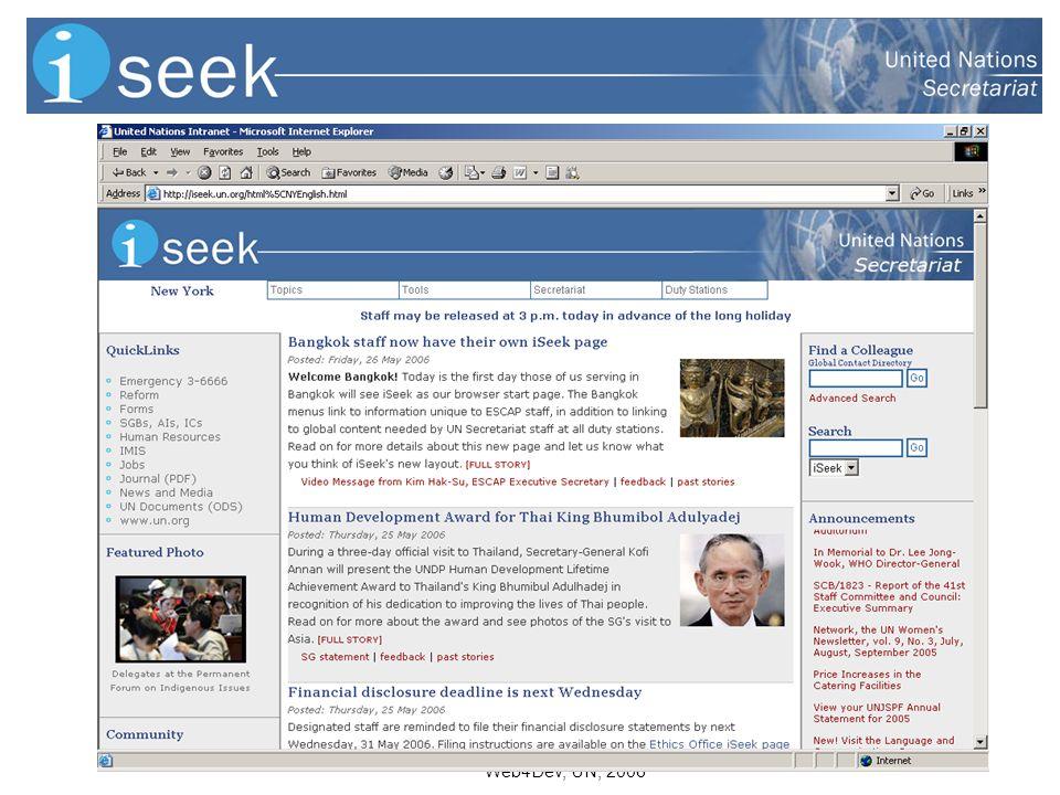 Web4Dev, UN, 2006