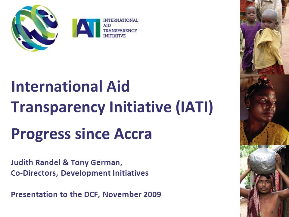 Why improve aid transparency.