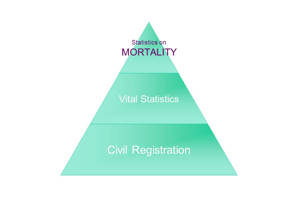 Statistics on MORTALITY Vital Statistics Civil Registration