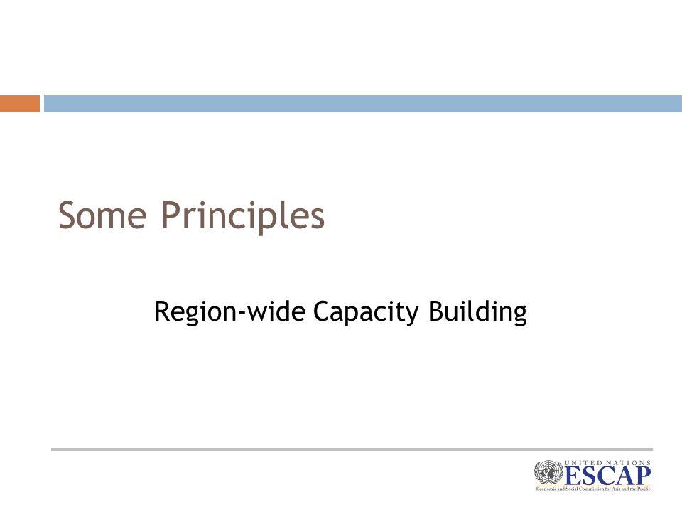 Some Principles Region-wide Capacity Building