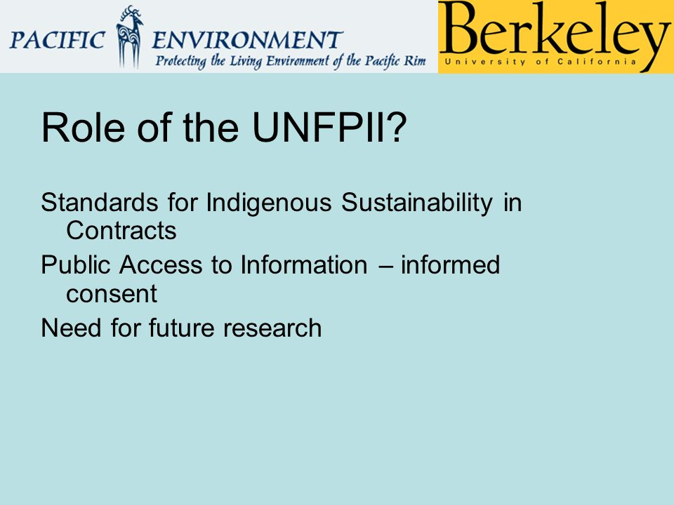 Role of the UNFPII.