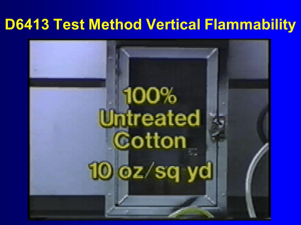 D6413 Test Method Vertical Flammability