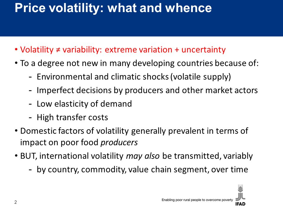 Is volatility increasing.