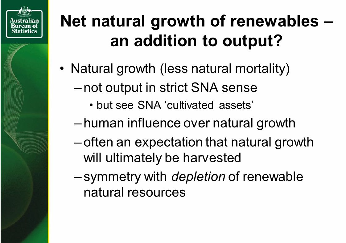 Net natural growth of renewables – an addition to output.