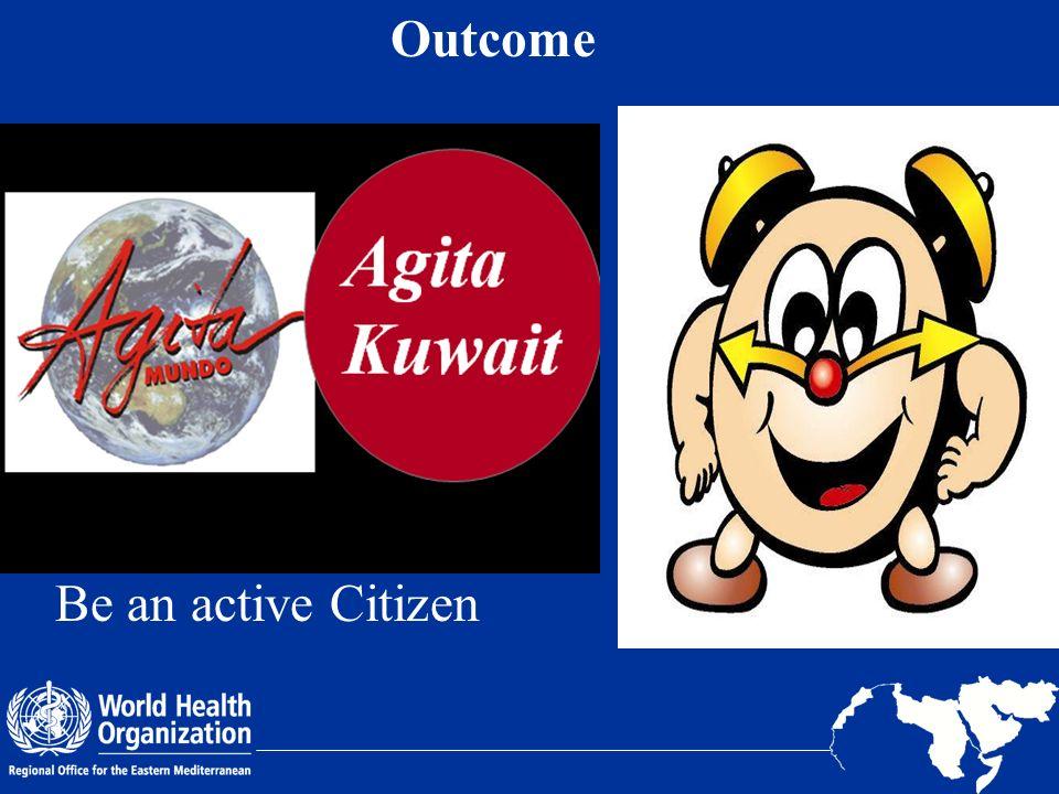 Outcome Be an active Citizen