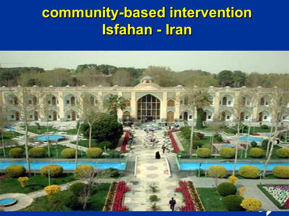 community-based intervention Isfahan - Iran