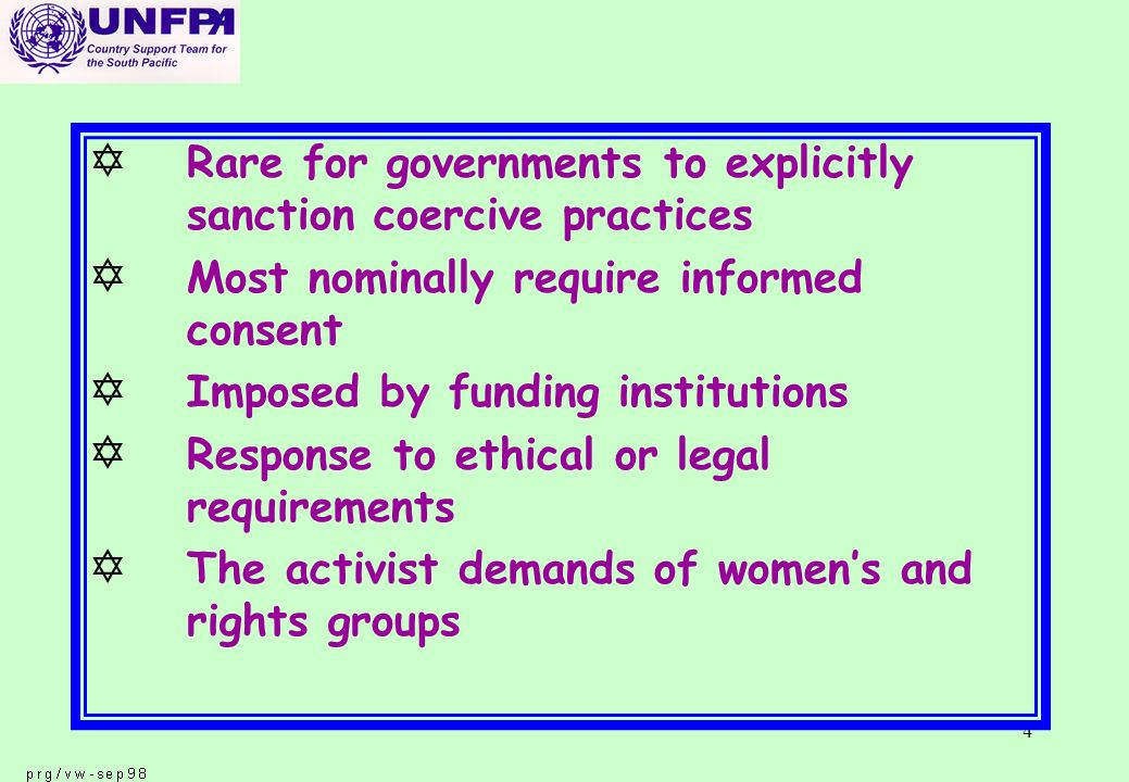 15 p The Cairo consensus initiated and reinforced a more holistic approach and a broadening mandate p A broader mandate also creates the need to determine whether guidelines developed for family planning are applicable to other areas of reproductive health care.